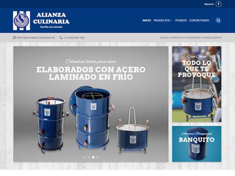 portafolio web alianza culinaria