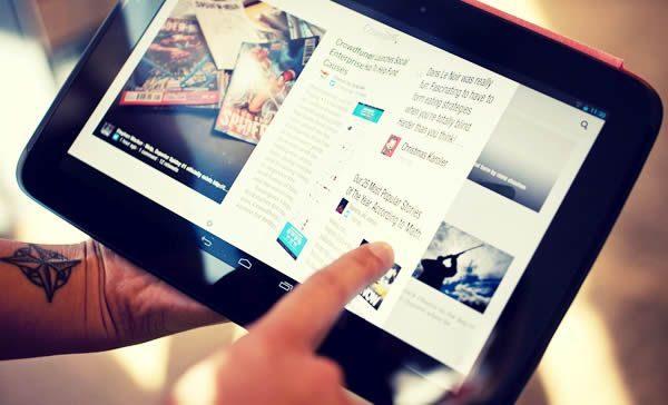 publicación interactiva vista desde una Tablet