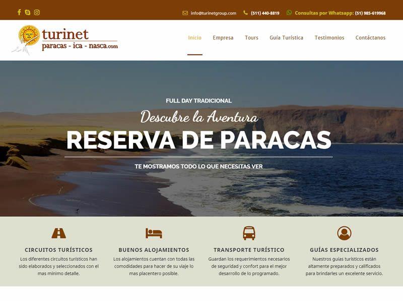 portafolio web turinet paracas